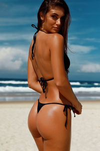 Sexy Black G-String Thong Bikini Bottoms image