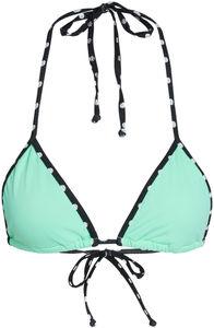 Tokyo Mint Green & Black Polka Dot Bikini Top image
