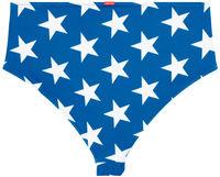 Patriotic Stars Print High Waist Bikini Bottom image