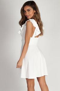 """Mine Enough"" White Ruffled Dress image"