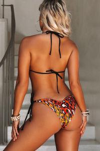 Sunset Leopard & Black Classic Scrunch Bottom image