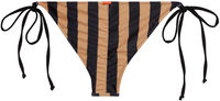 Black & Taupe Stripes Classic Scrunch Bottom image