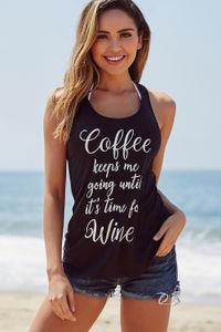 Black Coffee Keeps Me Going Tank Top image