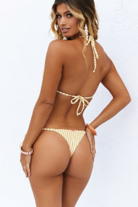 Yellow Stripes Brazilian Thong Bottom image