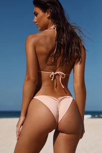 Blush Triangle Bikini On a Chain Top  image