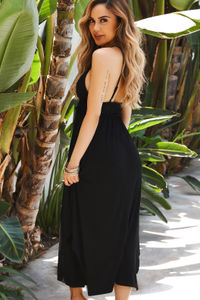 Farrah Black Maxi Cover Up Dress image