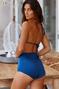Waikiki Navy Blue High Waist Scrunch Original Bottoms image