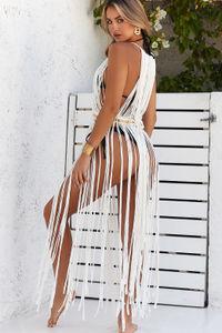 Milan White Maxi Dress Cover Up image