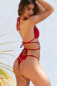 Red Brazilian Adjustable Banded Bottom image