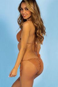Hibiscus Tan Bikini Bottom image