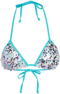 Aqua Party Sequin Triangle Top image