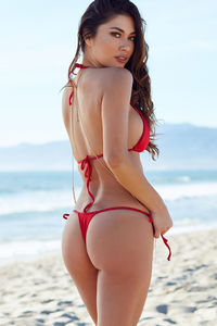 Sexy Red G-String Thong Bikini Bottoms image