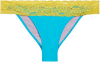 Aqua & Yellow Lace Classic Band Bottom image