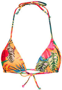 Sunset Tropical Print Triangle Top image