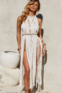 Milan White Maxi Dress Cover Up image