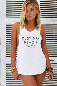 Resting Beach Face Tank image