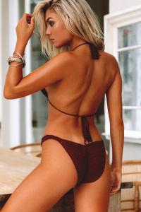 Beach Rose Burgundy Bikini Top  image