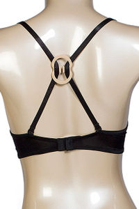 """Bra Strap Solution"" Nude, Clear, and Black 3pk Bra Strap Converter image"