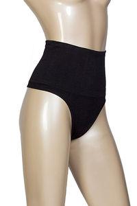 Black Tummy Control Thong Panties  image
