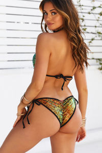 Sunset Mermaid Sequin Classic Scrunch Bottom image