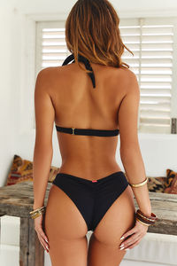 Black Banded Classic Scrunch Bottom image