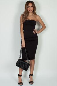 """Into You"" Black Basic Tube Mini Dress image"