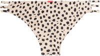 Cheetah Triple Strap Classic Scrunch Bikini Bottom image