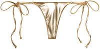 Gold G-String Thong Bottom image