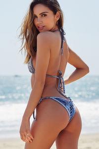 Laguna Steel Blue Velvet Classic Bikini Top image