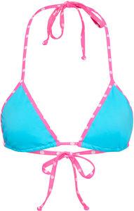 Tokyo Aqua Blue & Pink Polka Dot Bikini Top image