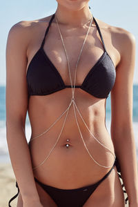 Gold Dainty Double Strand 2 Tier Body Chain image