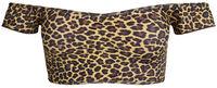 Leopard Off Shoulder Bikini Top image