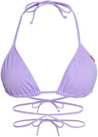 Lilac Strappy Triangle Bikini Top image