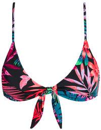 Black Tropical Bralette Top image