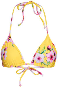 Yellow Cherry Blossom Print Triangle Top  image