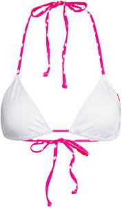 White & Pink Polka Dot Triangle Top image