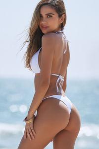 White Brazilian Thong Bottom image