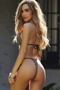 Leopard G-String Thong Ruched image
