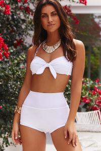 White Bandeau Bikini Top image