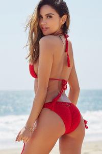 Beach Rose Red Bikini Top image