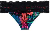 Maui Black Tropical & Black Lace Classic Band Bottom image