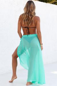 Boulevardier Mint Mesh Wrap Sarong Bikini Cover Up image