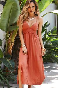 Farrah Sunset Rose Maxi Cover Up Dress image