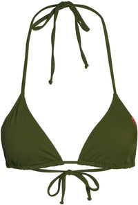 Olive Triangle Bikini Top image