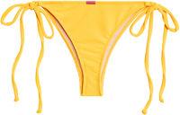 Yellow Ribbed Brazilian Thong Turnback image
