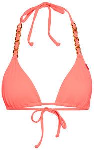 Salmon Triangle Bikini On a Chain Top  image