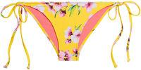 Yellow Cherry Blossom Print Classic Scrunch Bikini Bottoms image