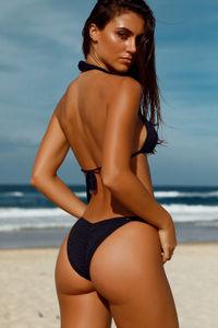Hyacinth Black Bikini Top image