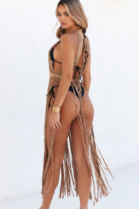 Milan Mocha Maxi Dress Cover Up image