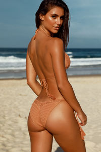 Beach Rose Tan Bikini Top image